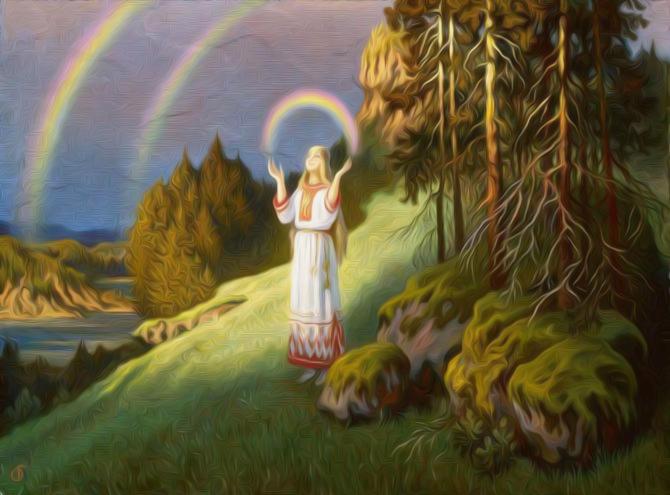 Духи предков и природы в религии восточных славян
