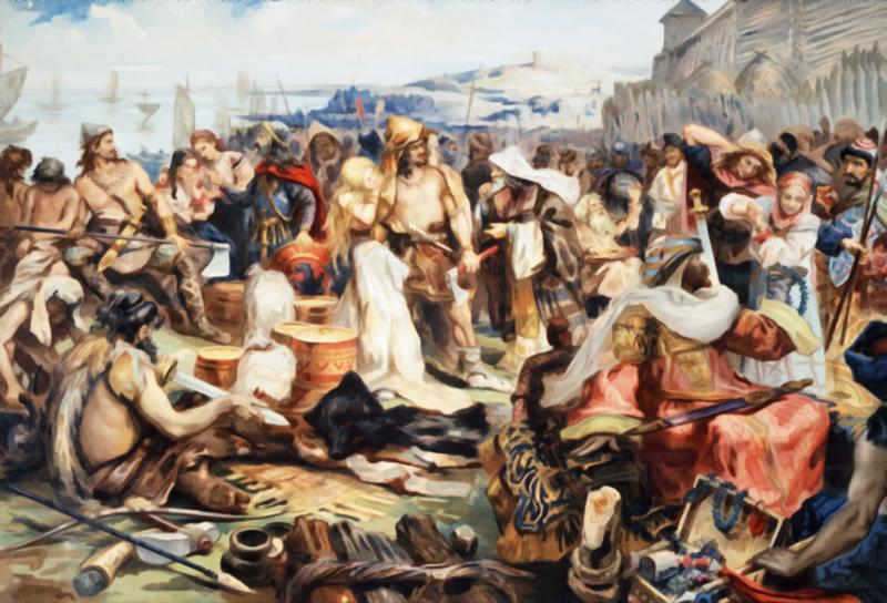 Общественное устройство, города и торговля восточных славян