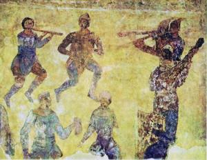 Скоморохи фреска